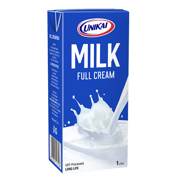 Unikai Uht Milk Full Cream - 4x1Ltr