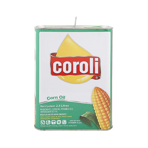 Coroli Corn Oil Tin - 2.5Ltr