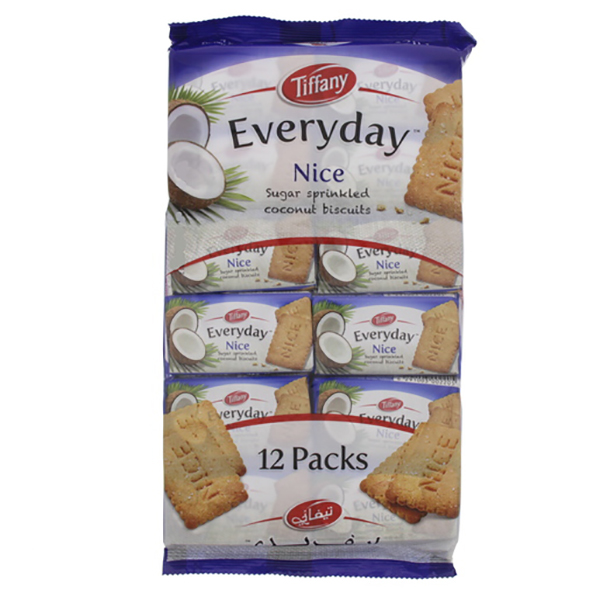 Tiffany Nice Biscuits - 12x50gm