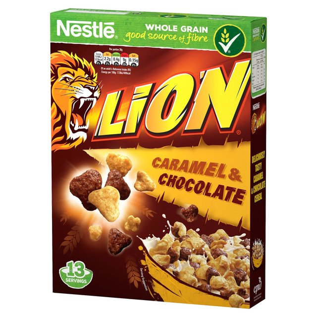 Nestle Lion Caramel & Chocolate Breakfast Cereal - 400gm