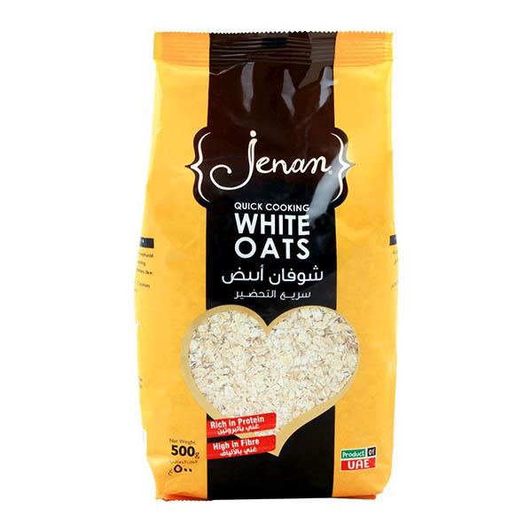 Jenan Quick Cooking White Oats - 500gm