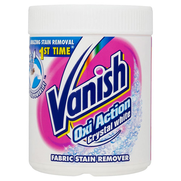 Vanish Oxi Action Crystal Whites Powder Stain Remover - 900g