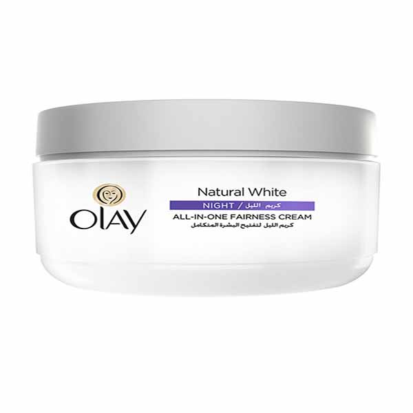 Olay Natural White All-In-One Fairness Night Cream - 50gm