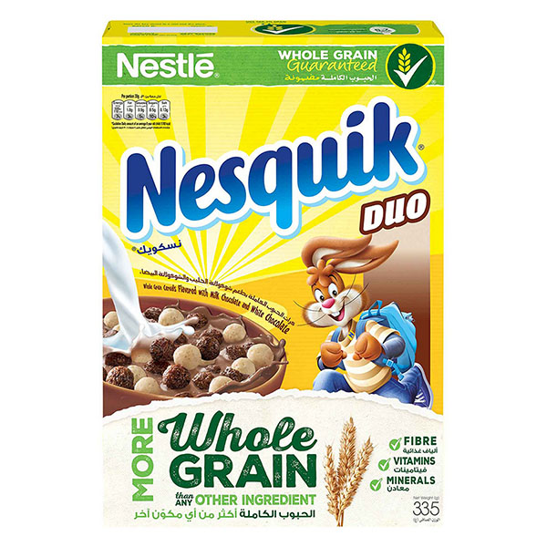 Nestle Nesquik Duo Breakfast Cereal - 335gm