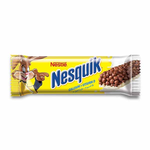 Nestle Nesquik Chocolate Breakfast Cereal Bar - 25gm