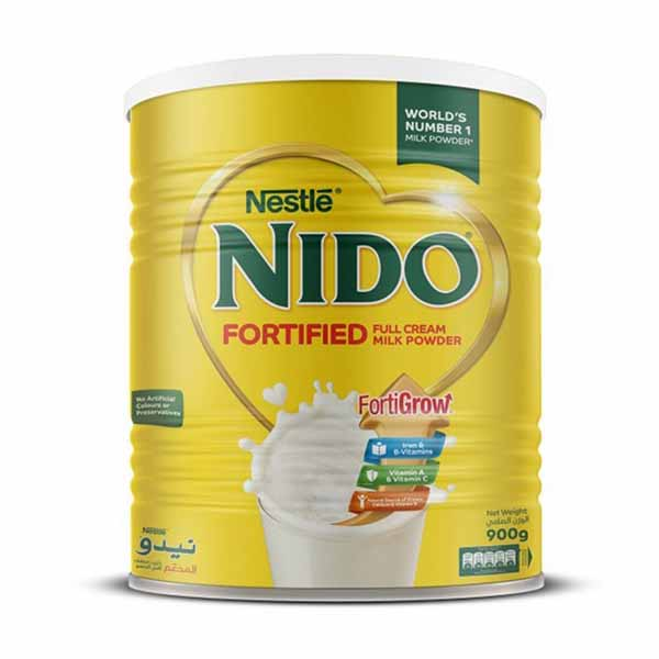 Nestle Nido Fortified Milk Powder Tin - 900gm