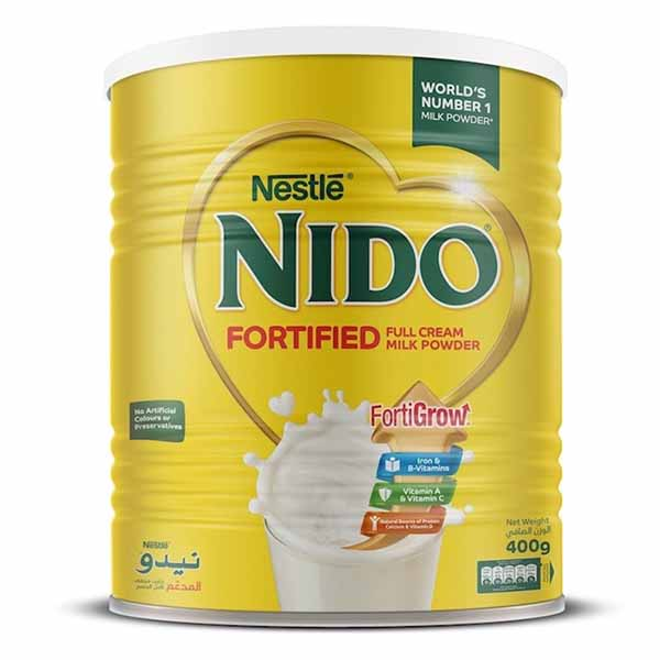 Nestle Nido Fortified Milk Powder Tin - 400gm