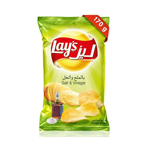 Lays Salt & Vinegar Potato Chips - 170gm