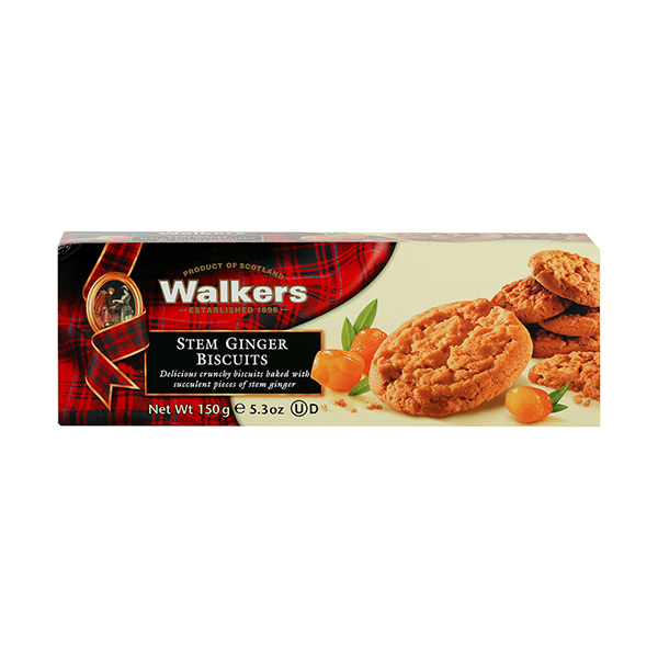Walkers Stem Ginger Biscuits - 150gm