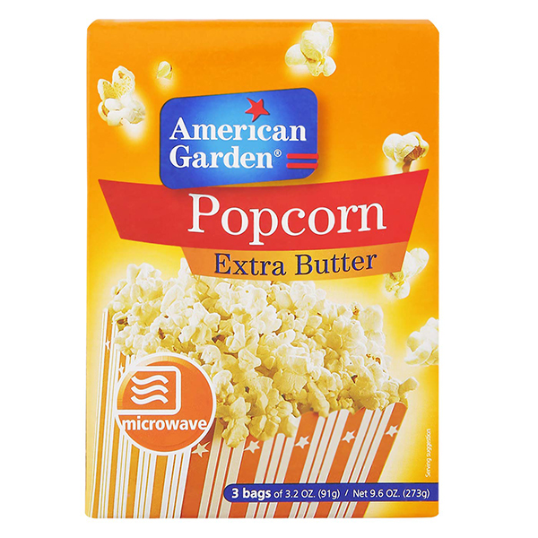 American Garden Extra Butter Microwave Popcorn - 273gm