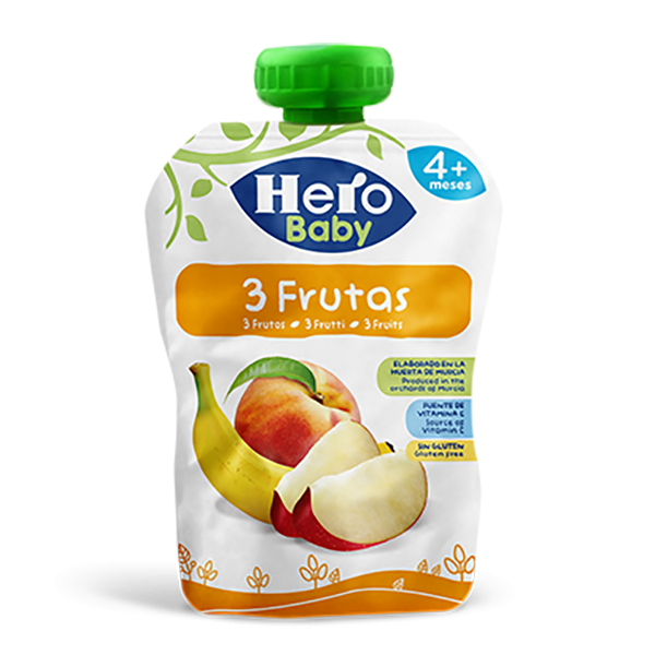 Hero Baby 3 Fruits Pouch - 100gm