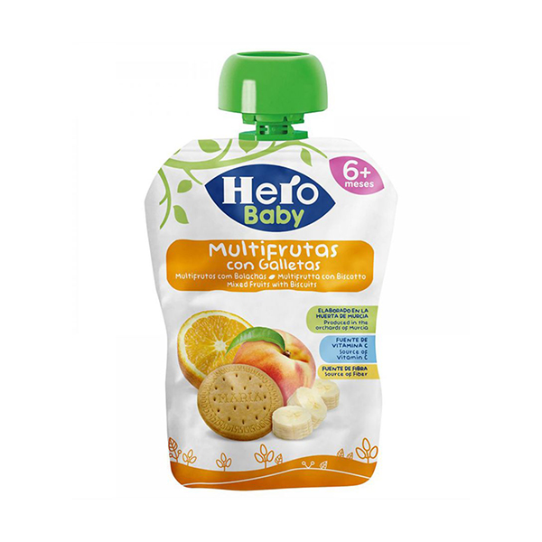 Hero Baby Mixed Fruits With Biscuits - 100gm