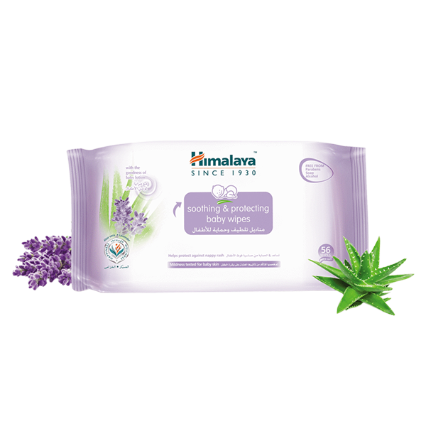 Himalaya Soothing & Protecting Baby Wipes - 56 Wipes