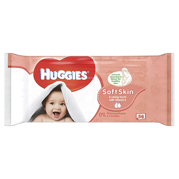 Huggies Soft Skin Baby Wipes - 56 Pieces