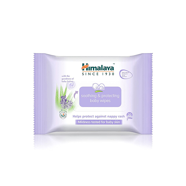 Himalaya Soothing & Protecting Baby Wipes - 20 Wipes