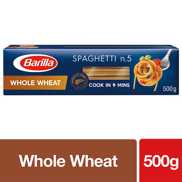 Barilla Whole Wheat Spaghetti Pasta - 500gm