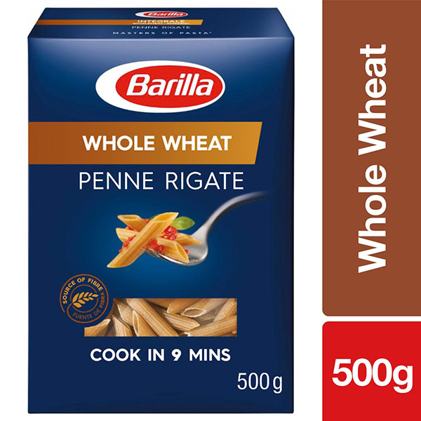 Barilla Whole Wheat Penne Rigate Pasta - 500gm