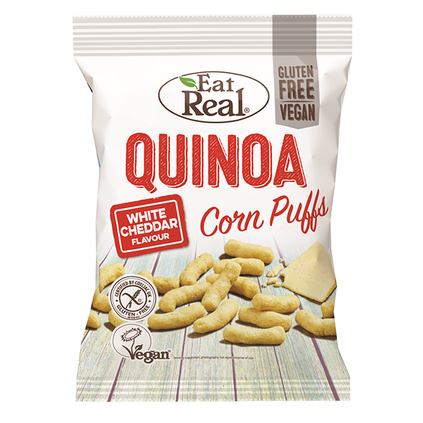 Eat Real Quinoa Puffs White Cheddar - 113gm