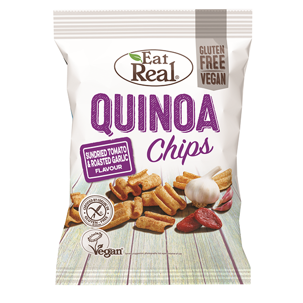 Eat Real Quinoa Chips Sundried Tomato & Roasted Garlic - 30gm