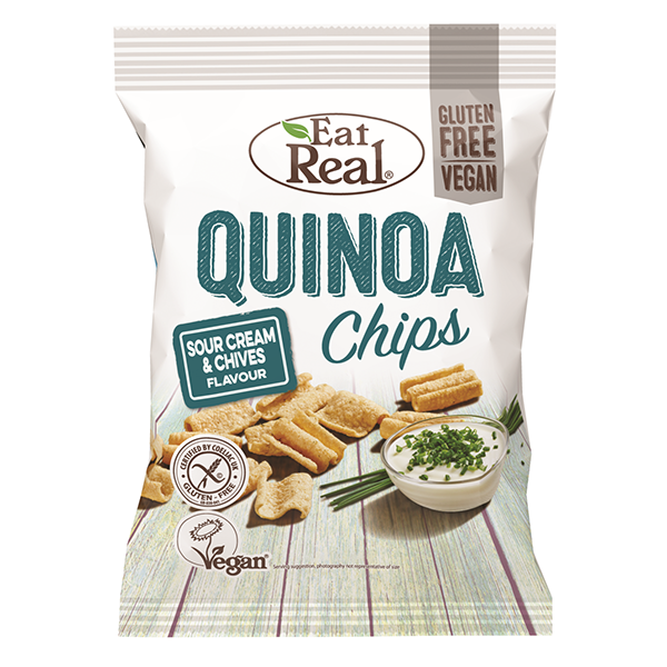 Eat Real Quinoa Chips Sour Cream & Chive - 80gm