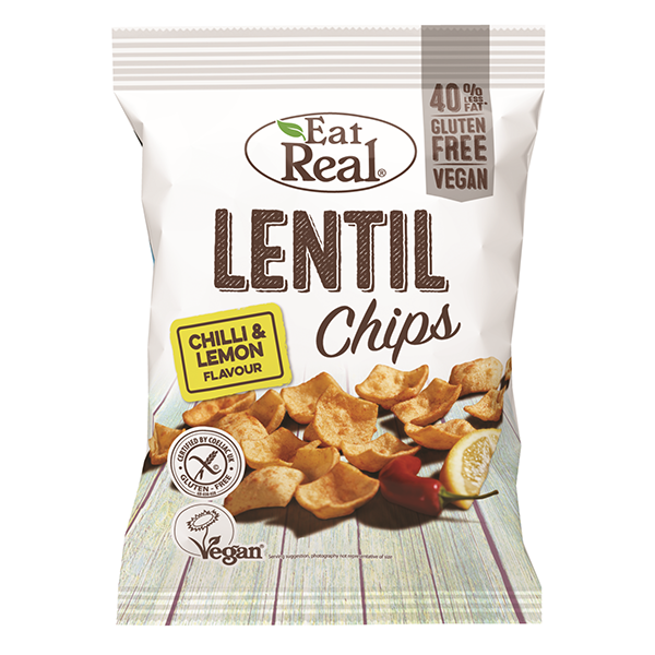 Eat Real Lentil Chips Chilli & Lemon - 113gm