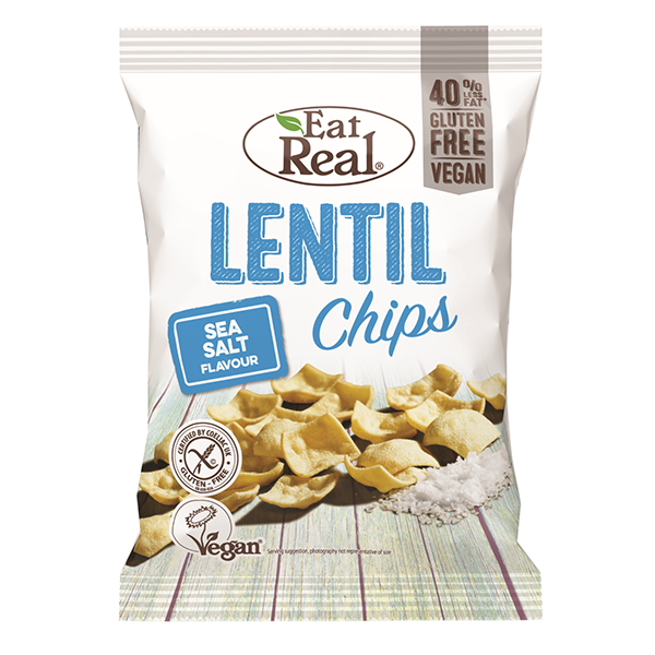 Eat Real Lentil Chips Sea Salt - 113gm