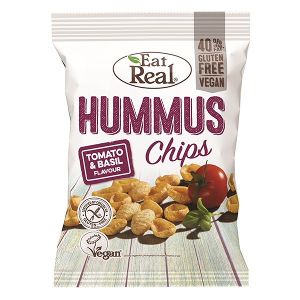 Eat Real Hummus Chips Tomato & Basil - 135gm