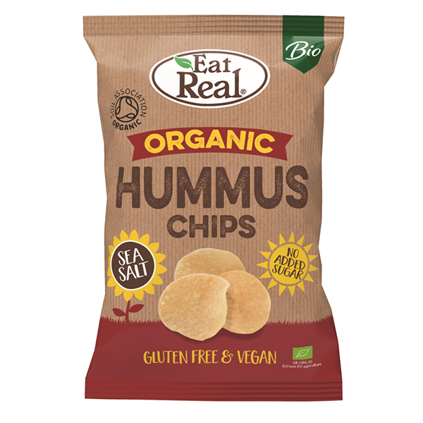 Eat Real Organic Hummus Chips Sea Salt - 100gm