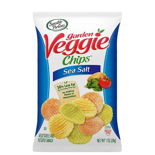 Sensible Portions Veggie Chips Sea Salt - 30gm