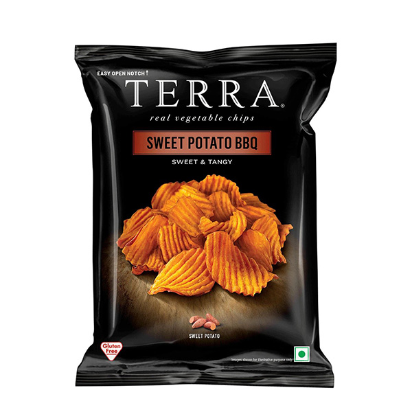 Terra Crinkled BBQ Sweet Potato Chips Sweet & Tangy - 30gm