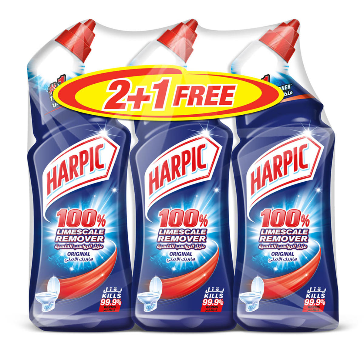 Harpic Liquid Toilet Cleaner Original (pkt/3pc)