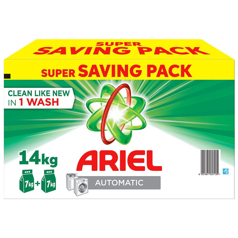 Ariel Semi Automatic Laundry Detergent Powder Geen - 2x7kg