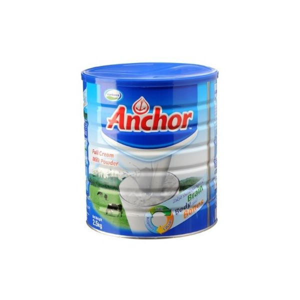 Anchor Full Cream Milk Powder Tin - 2.5Kg