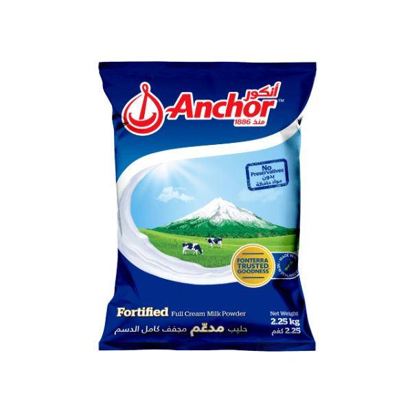 Anchor Full Cream Milk Powder Pouch - 2.25kg