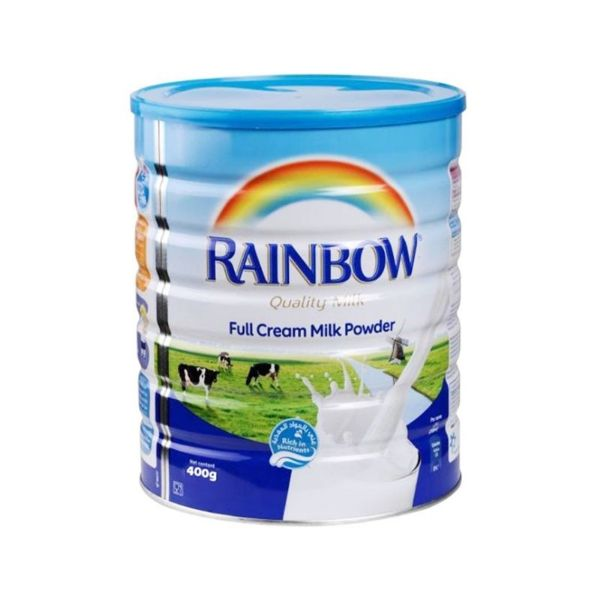 Rainbow Full Cream Milk Powder Tin - 400gm