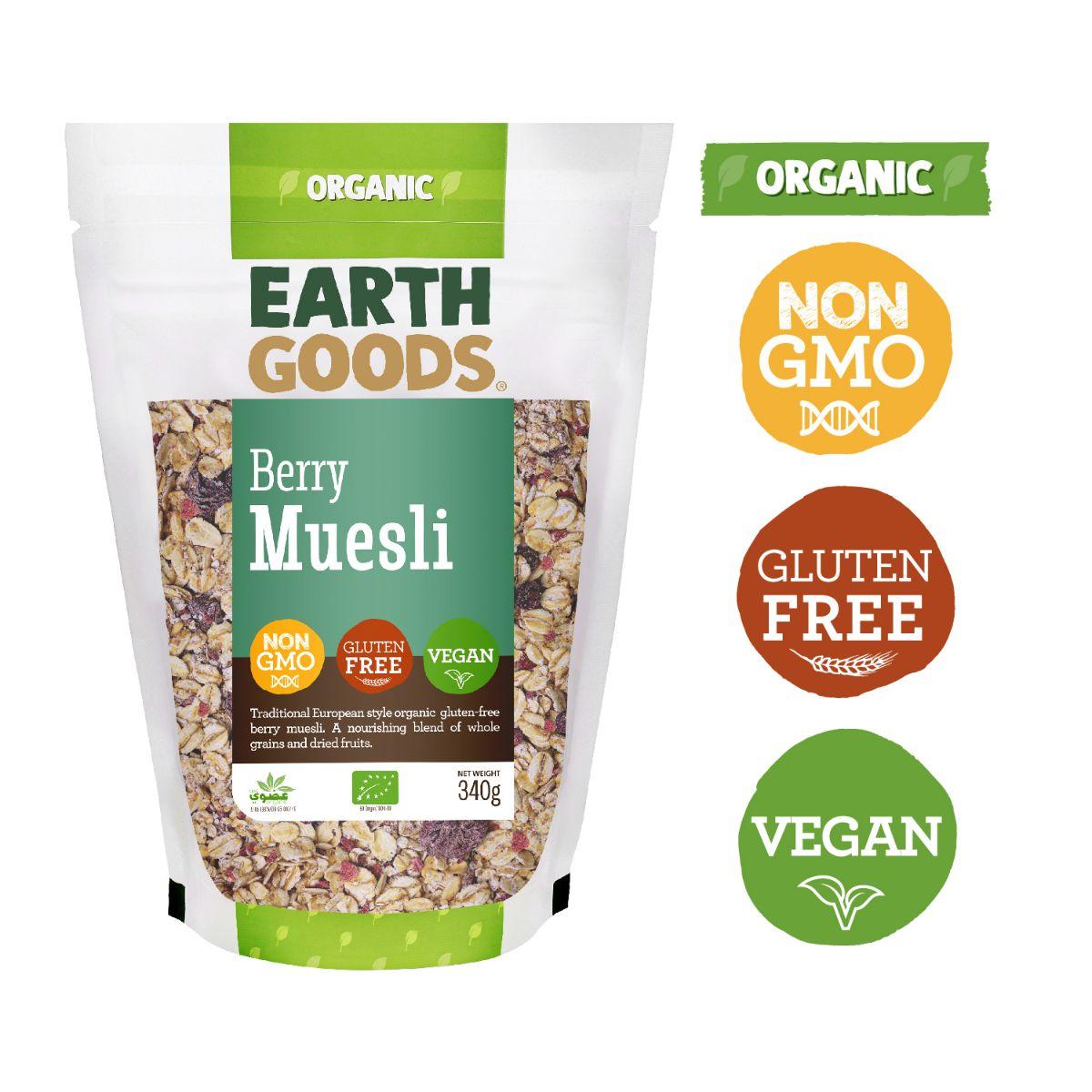 Earth Goods Organic GF Berry Muesli - 340g
