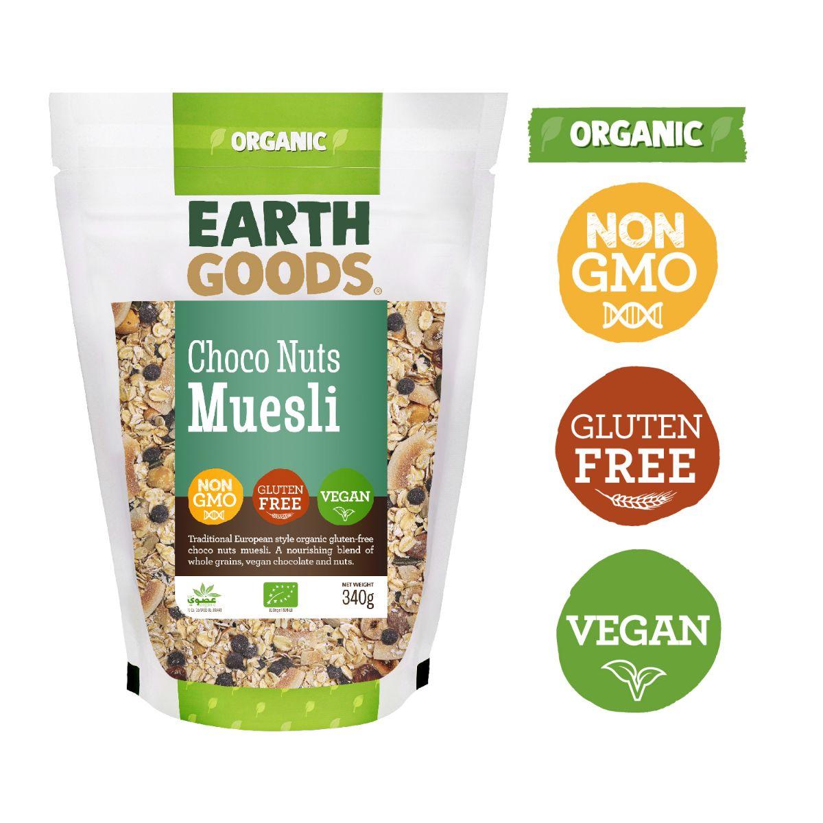 Earth Goods Organic GF Choco Nuts Muesli - 340g