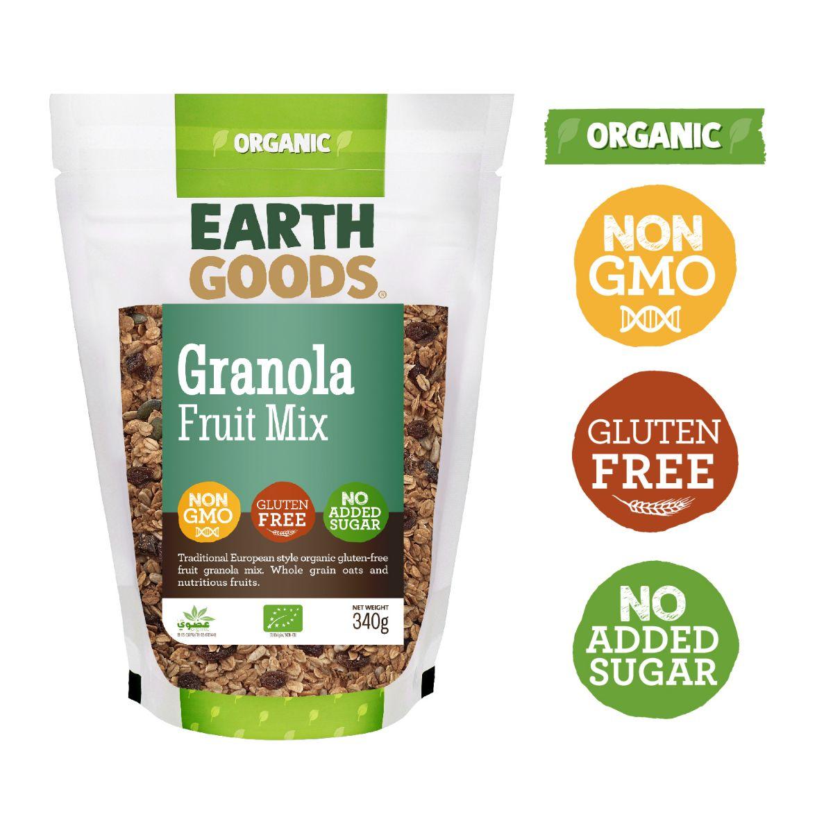 Earth Goods Organic GF Fruit Mix Granola - 340g