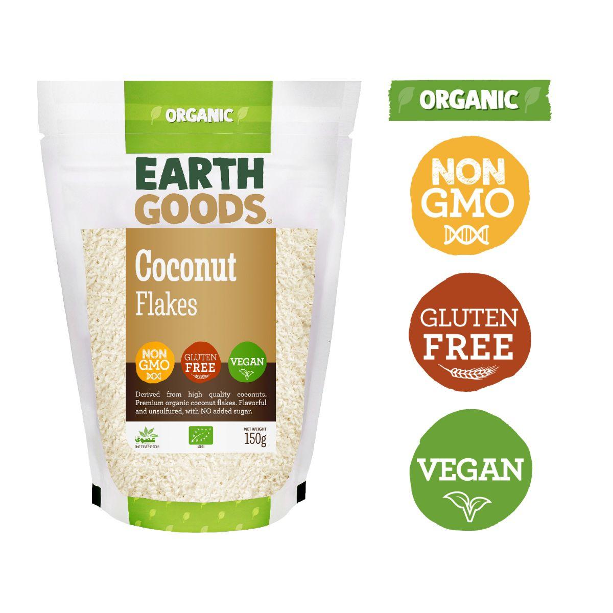 Earth Goods Organic Coconut Flakes - 150g