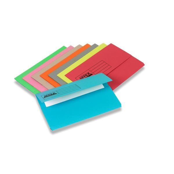 Rexel 45113 Jiffex Document Wallet FS - Blue (pkt/50pcs)