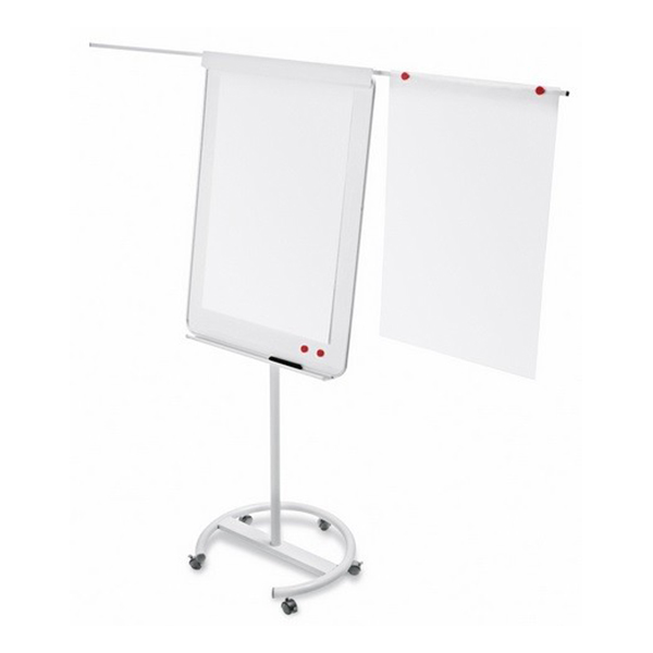 Magnetoplan 70cm x 100cm Mobile Flipchart Board with Telescopic Arms