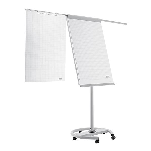 Magnetoplan 68cm x 97cm Mobile Flipchart Board - White/Grey (pc)