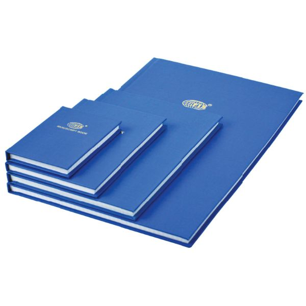 FIS Manuscript Book 8mm Single Ruled With English Index A5 FSMNA52QIE - Blue (pc)