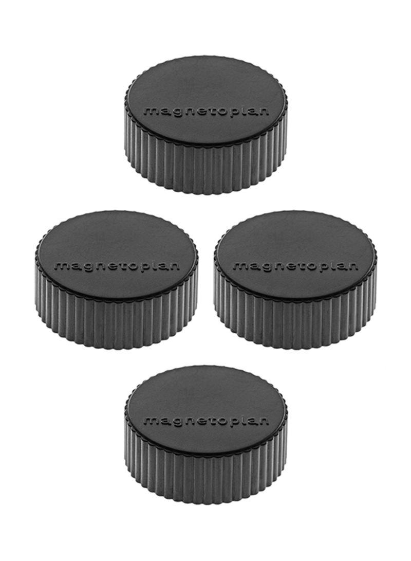 Magnetoplan COP1600412 Magnetic Discofix Magnum - Black (pkt/4pcs)