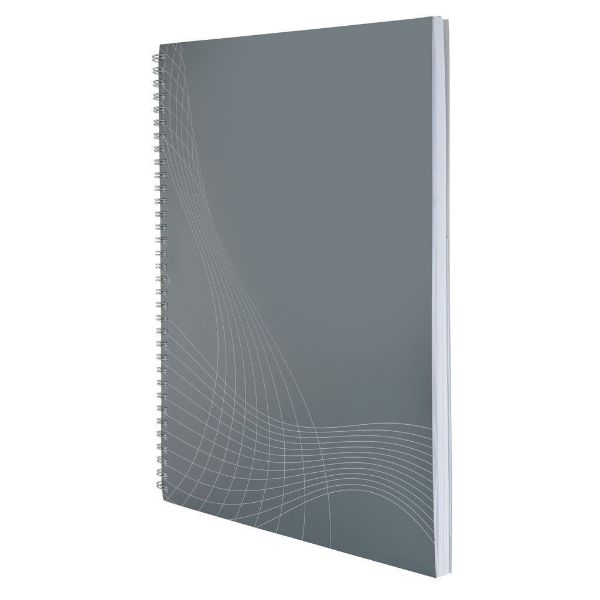 Avery 7012 A4 Basic Notizio Notebook, Spiral-Bound Lined, Hard Cover, 80 Sheets (Pc)