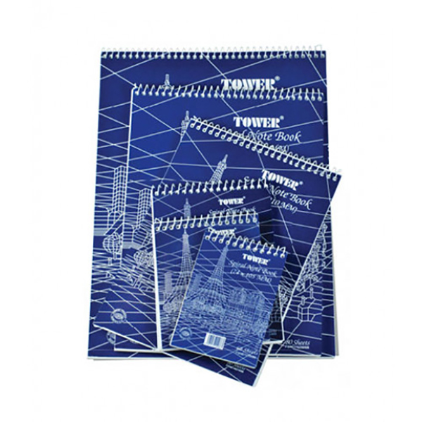 FIS FSNB105148SB Tower Top Spiral Soft Cover Spiral Single Ruled Notebook 60-sheets - A6 (pc)
