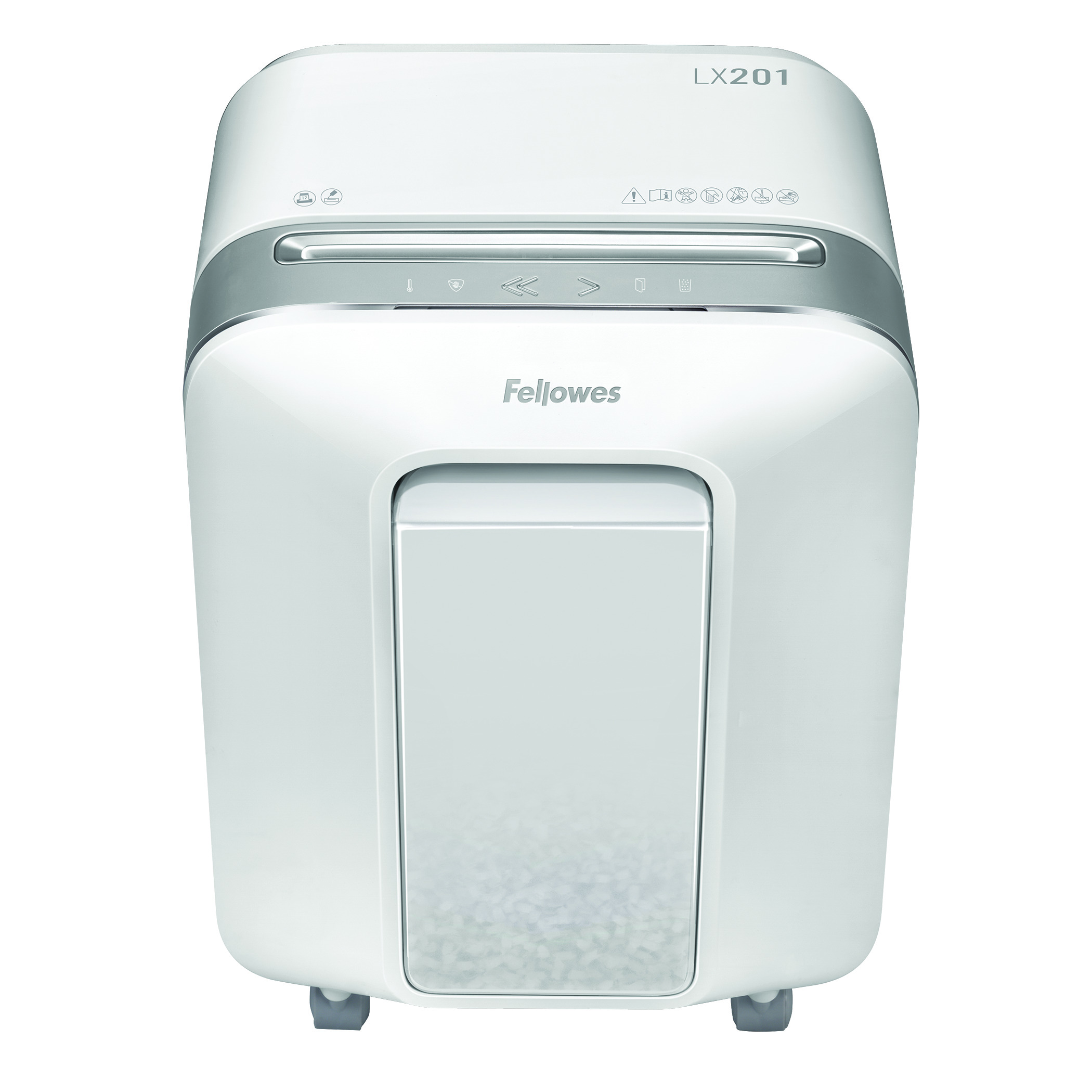 Fellowes LX201 12 Sheet Micro Cut Shredder - White