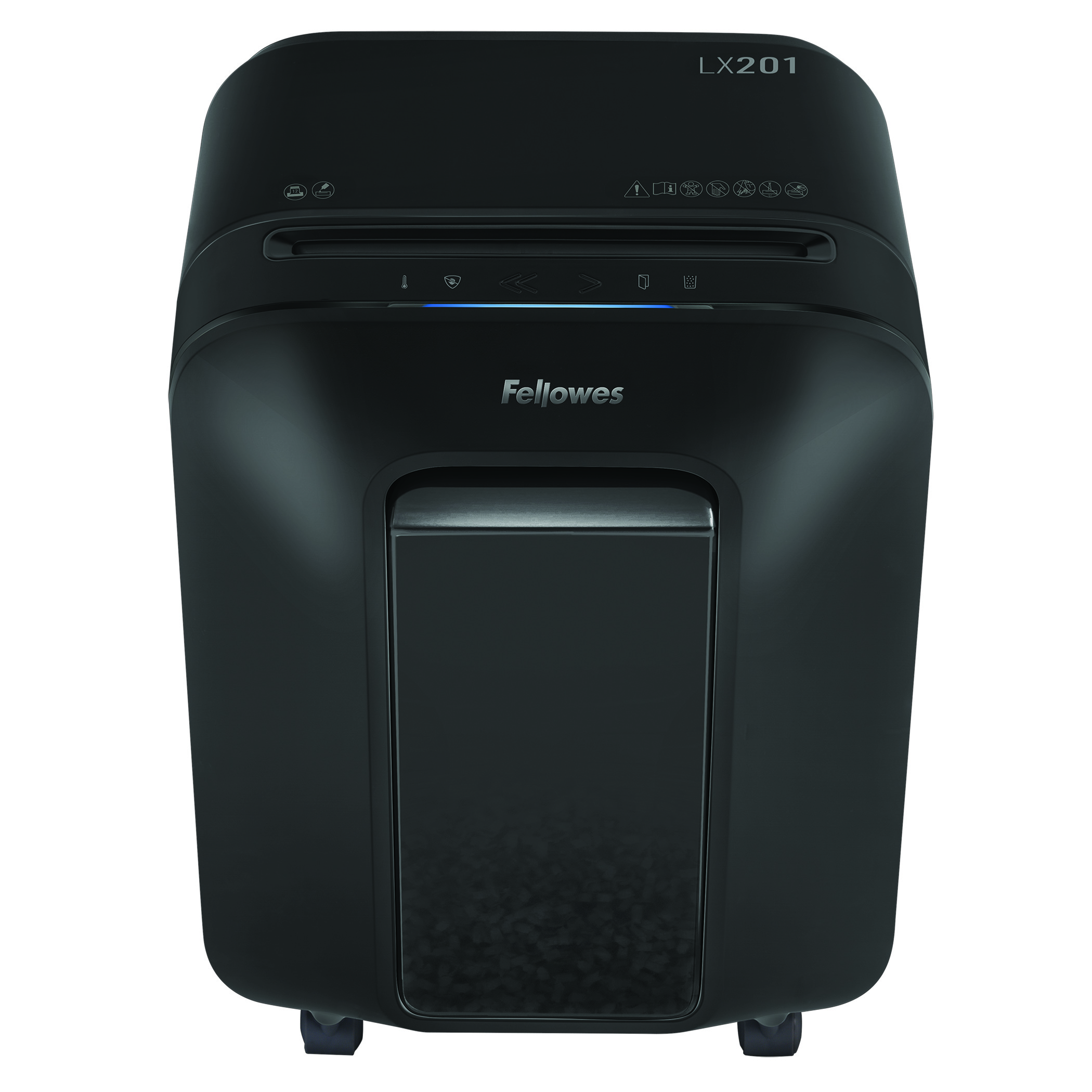 Fellowes LX201 12 Sheet Micro Cut Shredder - Black