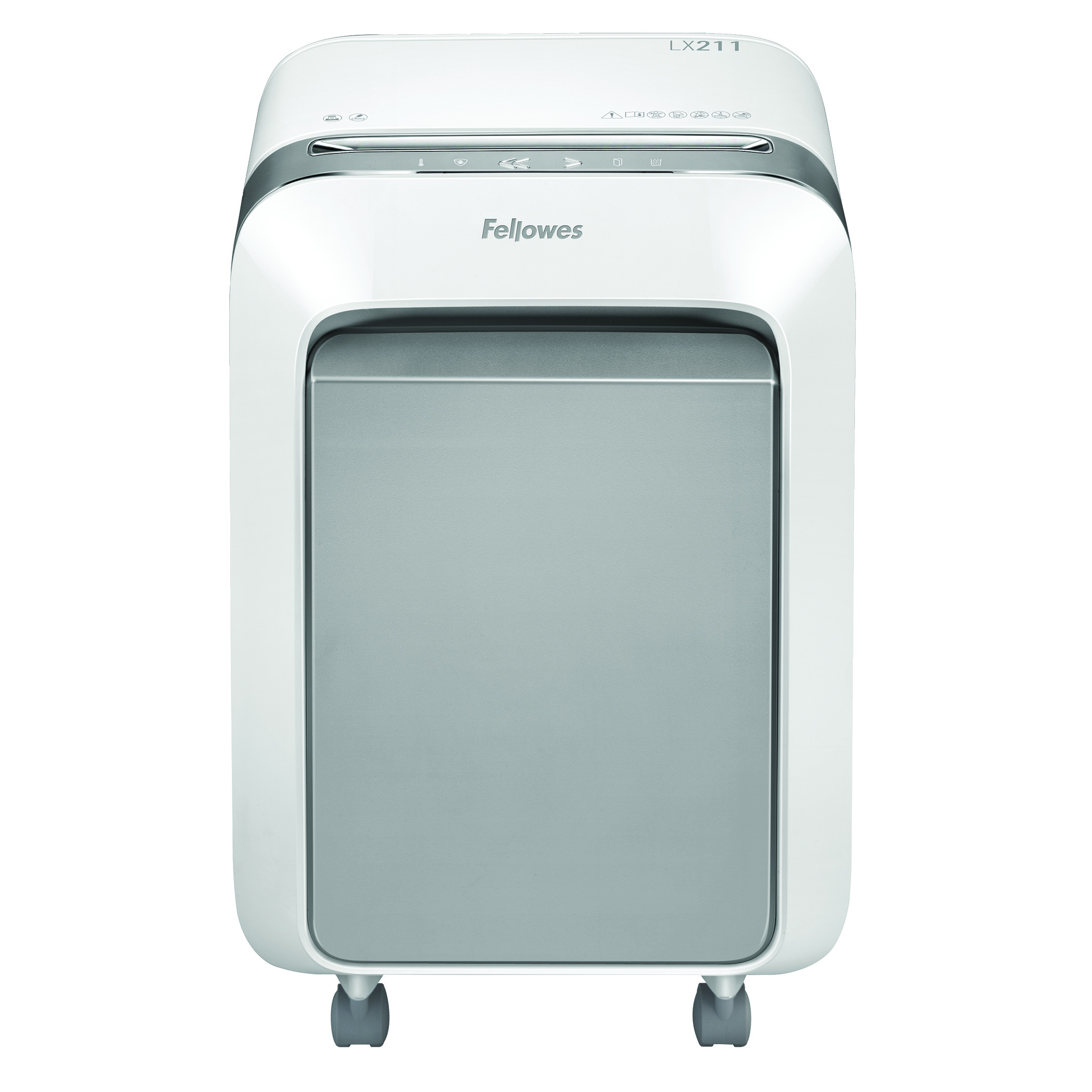 Fellowes LX211 15 Sheet Micro Cut Shredder - White