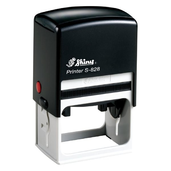 Shiny S-828 Customized Self Inking Stamp 56 x 33mm - Blue (pc)